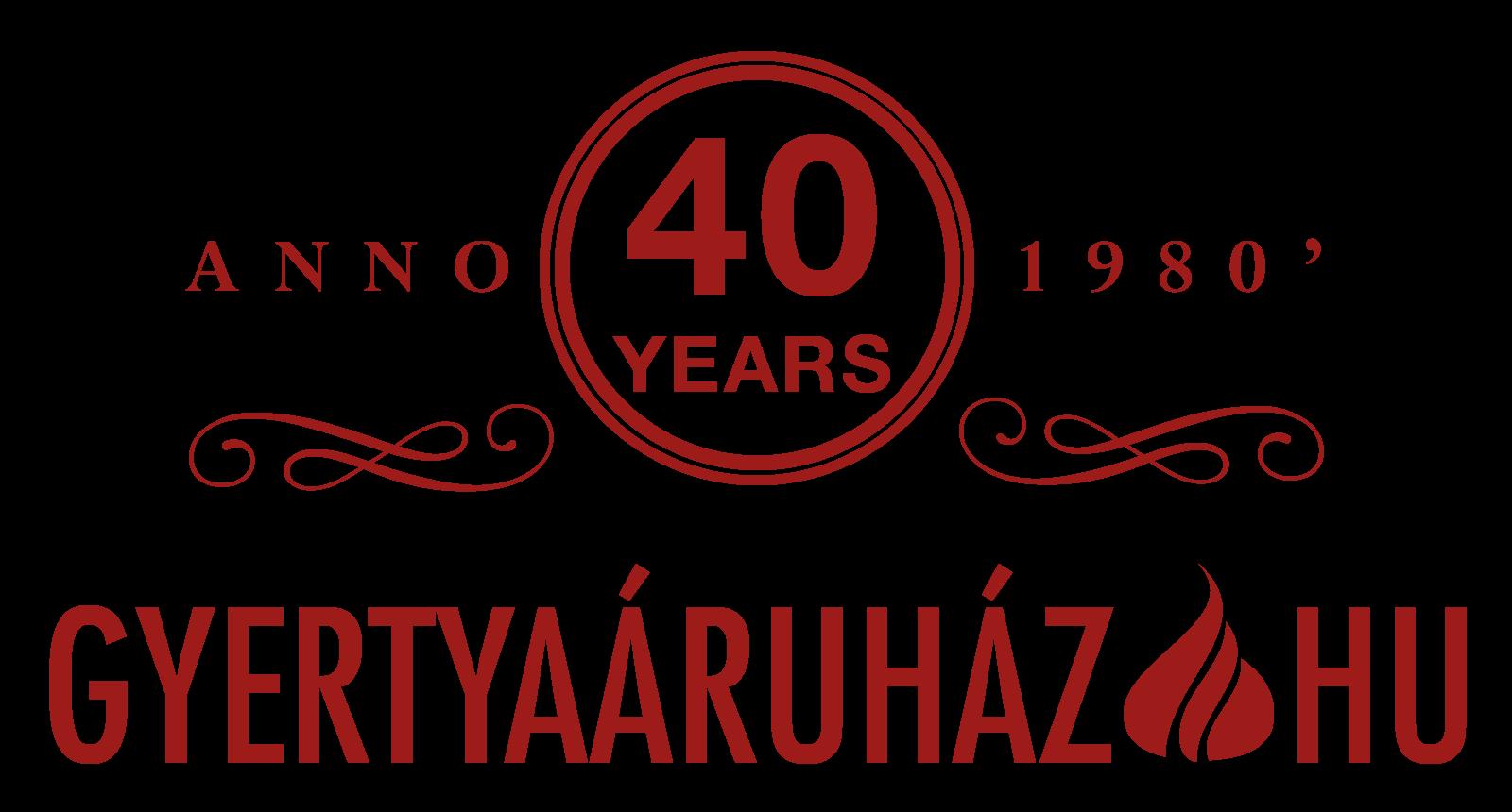 gyertya-aruhaz-35-eves-logo